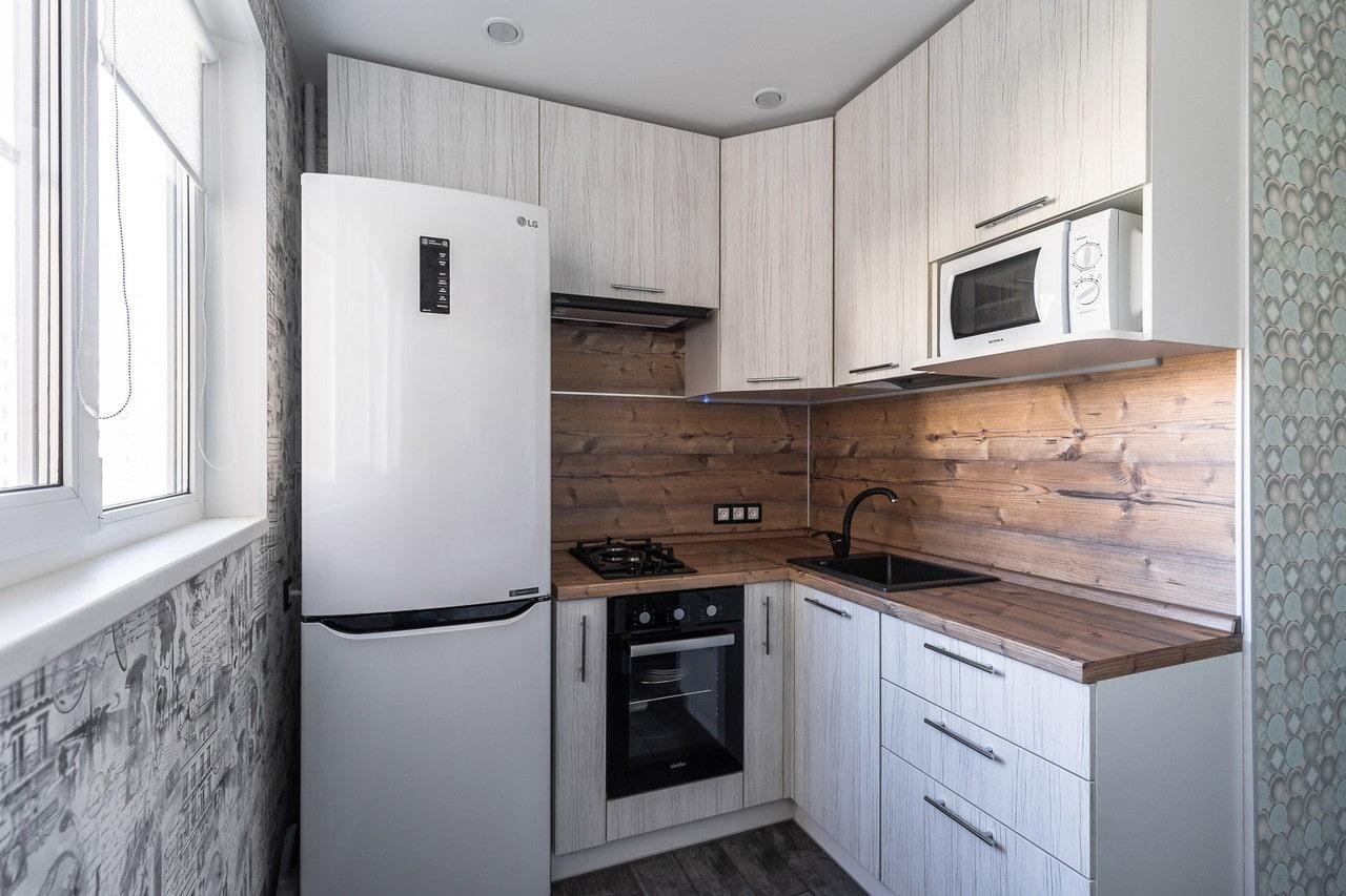 Дизайн кухни с угловой мойкой
