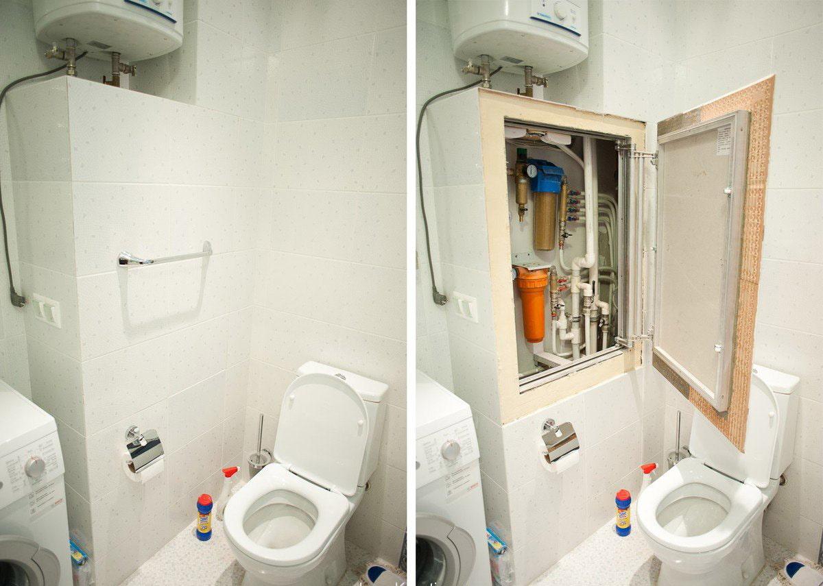 Как спрятать трубы в туалете: варианты и инструкции с фото и видео