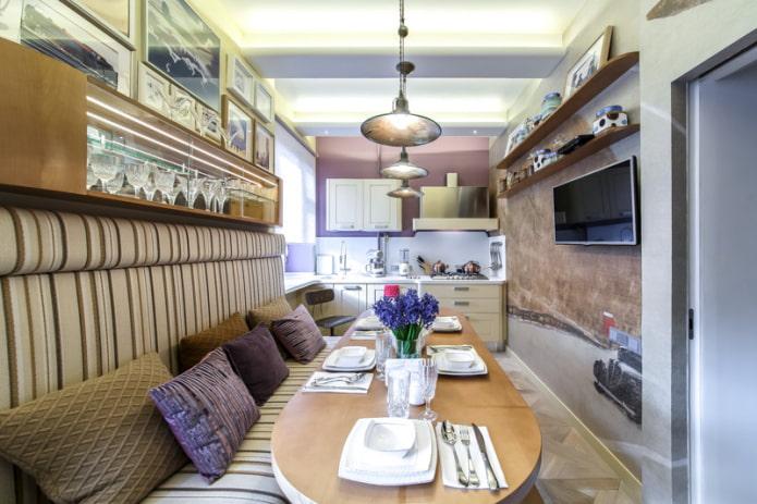 вариант кухни-гостиной 11 кв