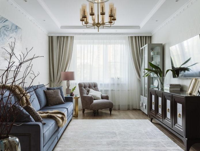 Гостиная 17 кв м – стильные дизайнерские идеи и 49 фото