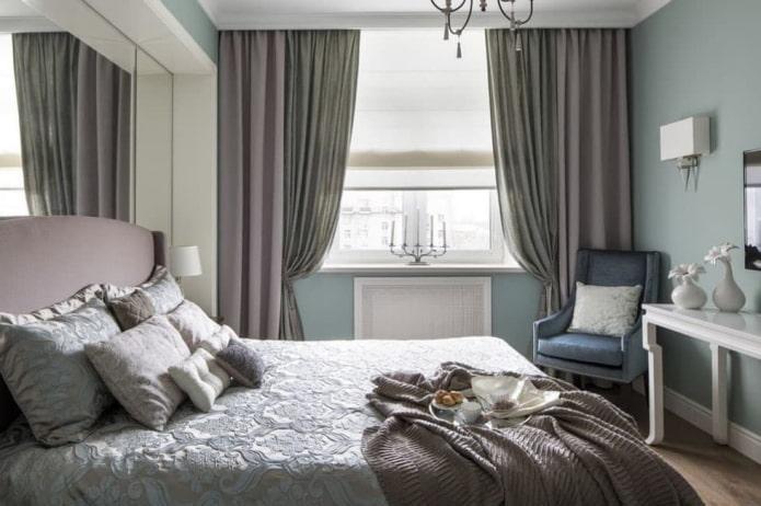 спальная в пастельных тонах
