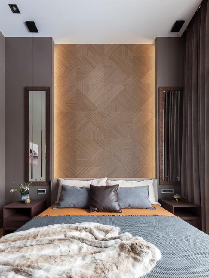 деревянные панели изголовье