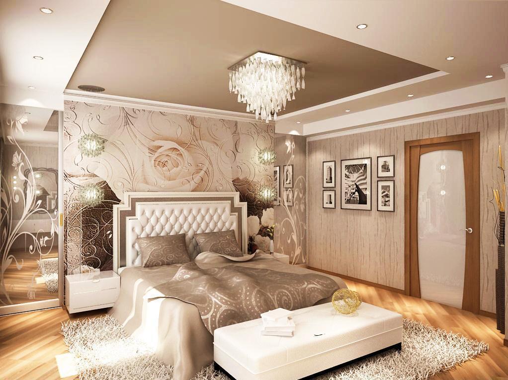 более 70 фото интерьеров спален с фотообоями 3д рисунки цветы и города