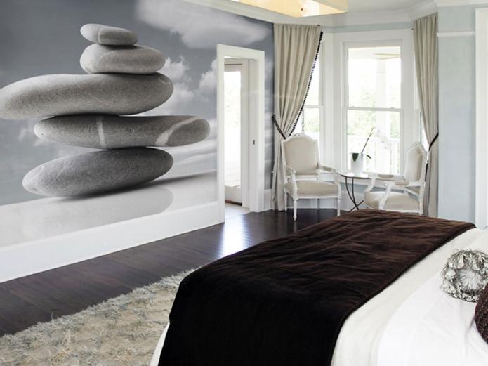 фотообои напротив кровати