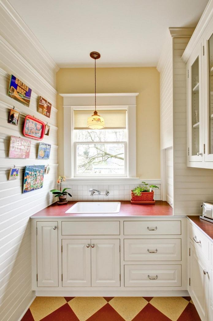 дизайн кухни с пвх-панелями