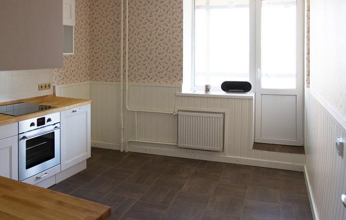 отделка панелями кухни