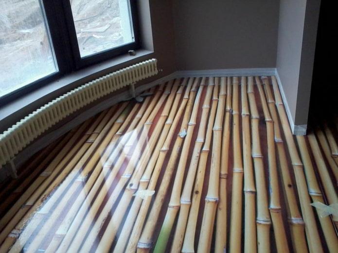 наливной пол бамбук