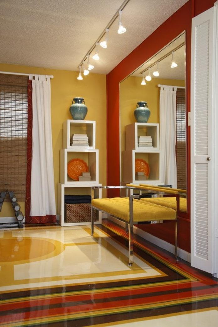 цветной пол в гостиной
