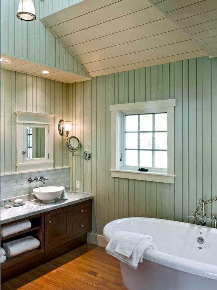стены ванной из вагонки