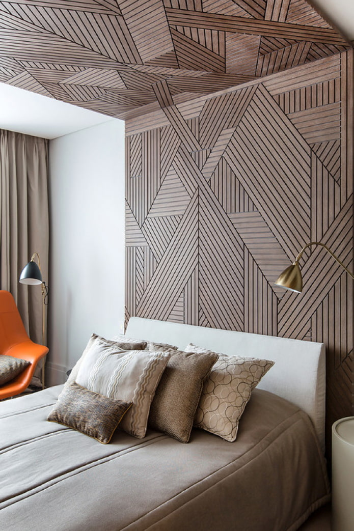 деревянный декор стены
