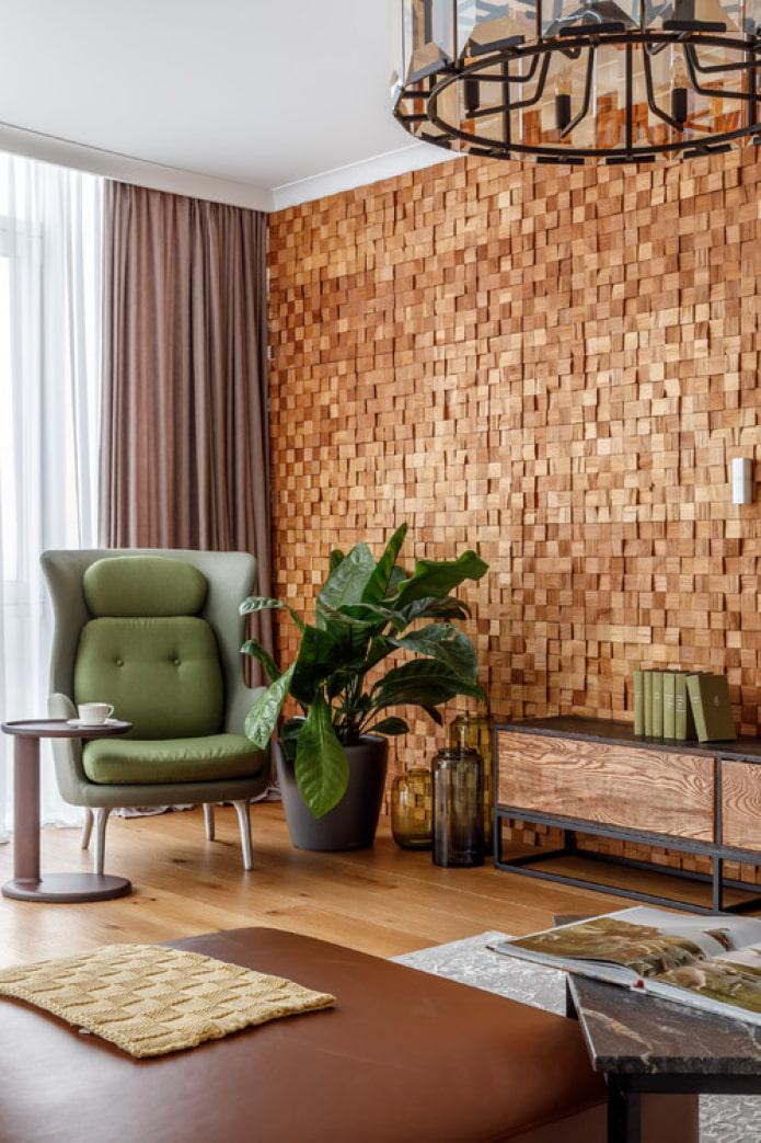 мелкие деревянные блоки для стен