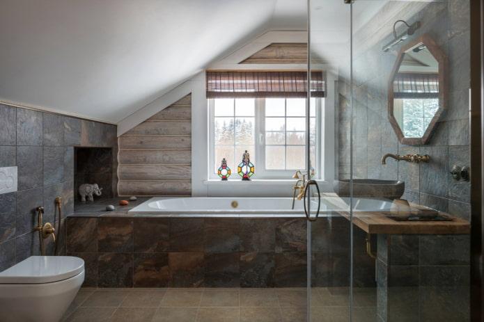 ролл-шторы в ванной