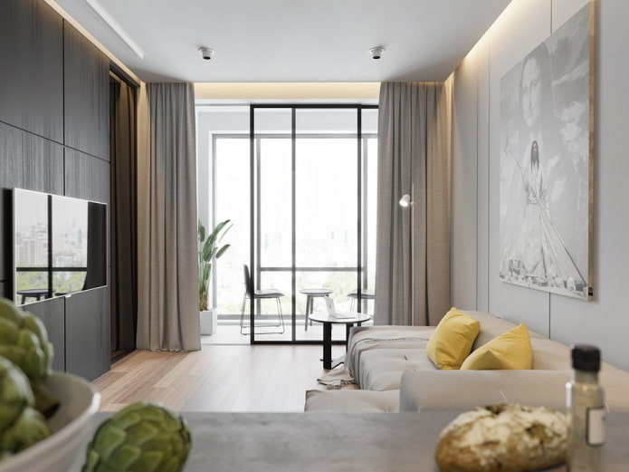 минимализм в гостиной