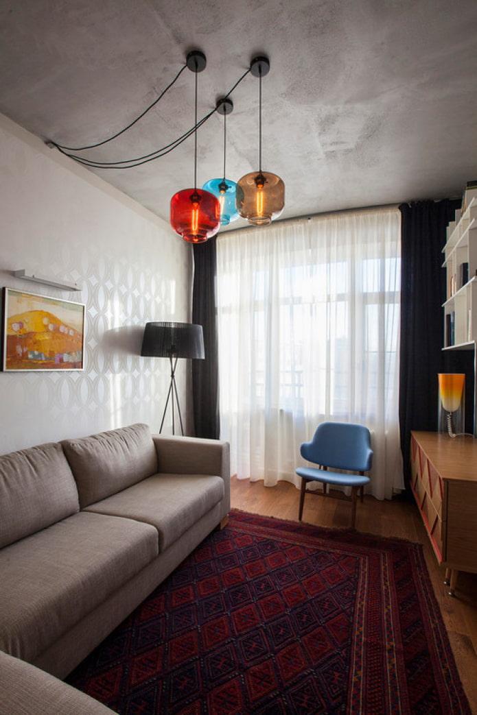 дизайнерские лампы в интерьере