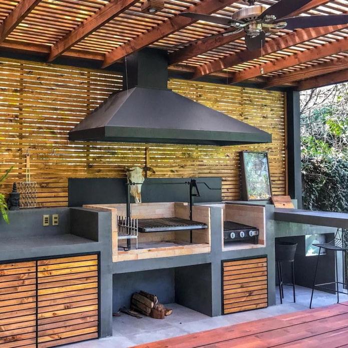 дымоход в летней кухне