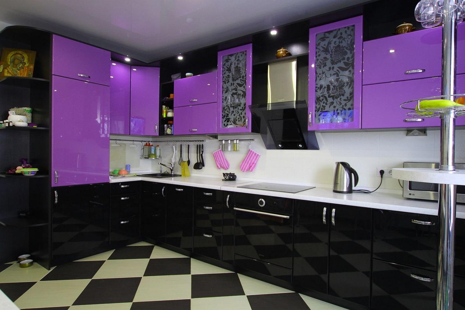 америке тем кухня фиолетовый низ белый верх фото товаров