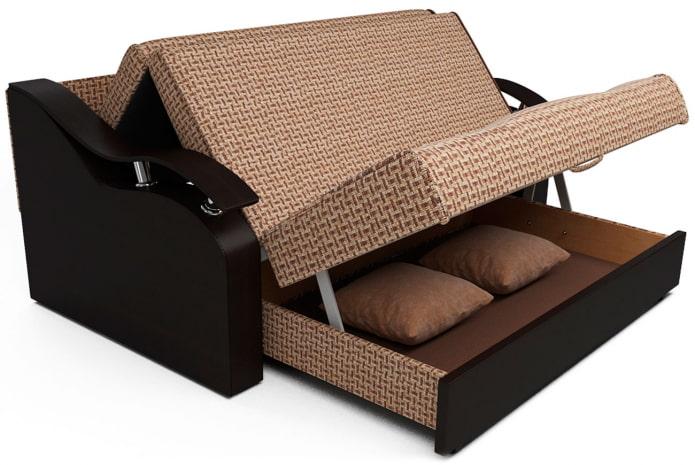 диван аккордеон с подлокотниками