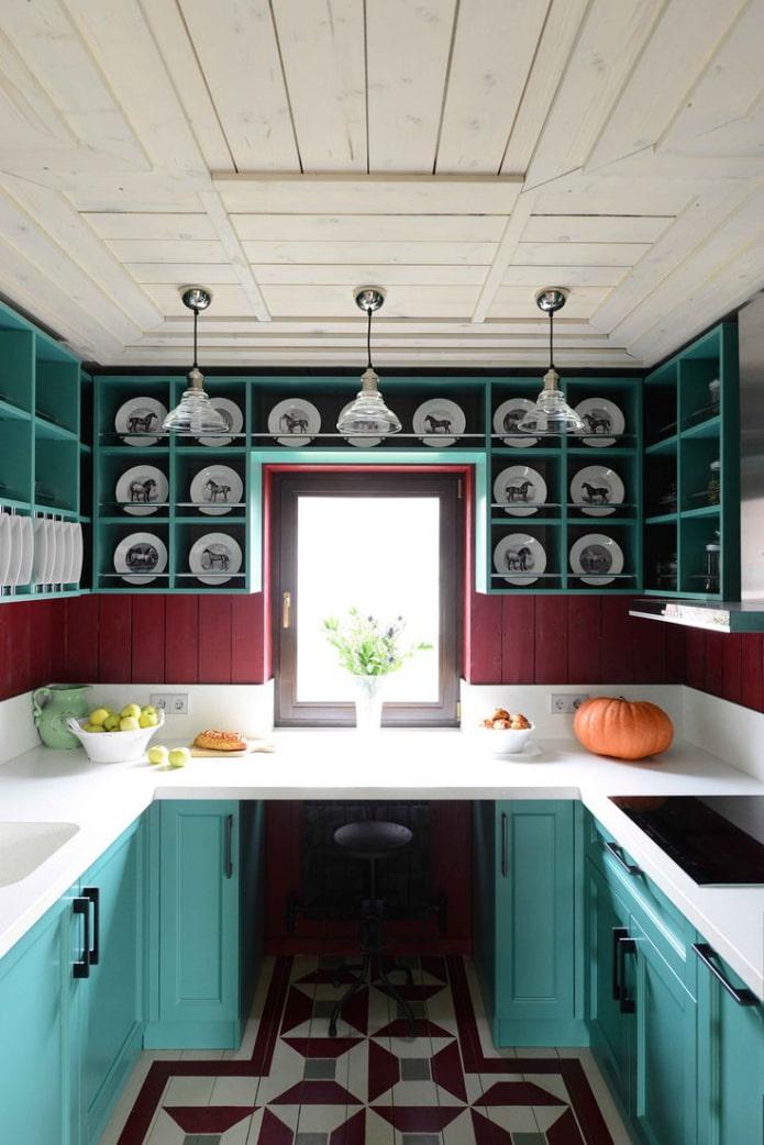яркая современная кухня