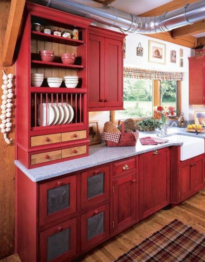 цветная кухня на даче