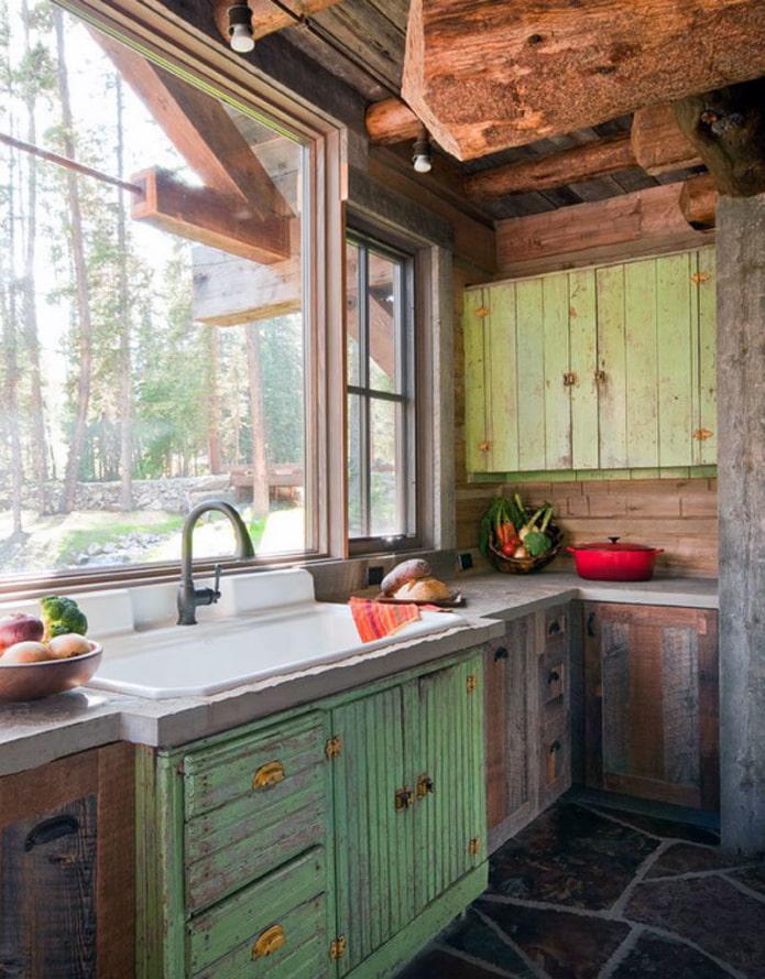 кухня из старой мебели