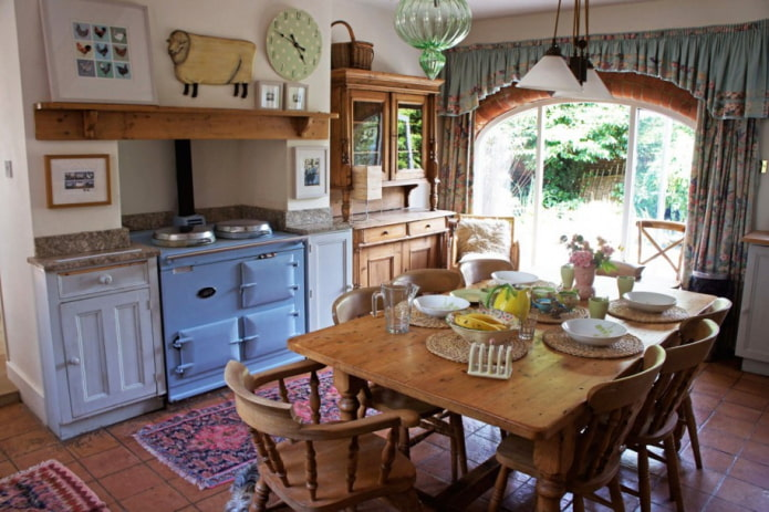 дачная кухня с печью