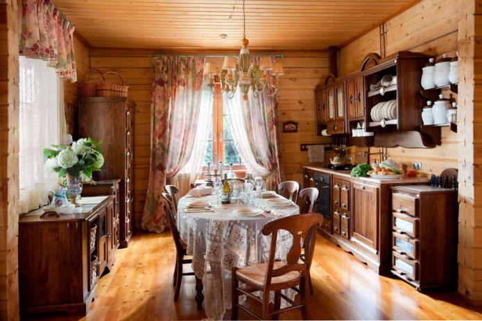 кухня на дачи в классическом стиле