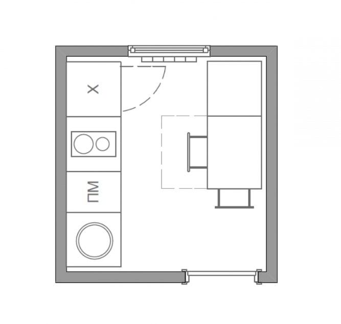 планировка 4 кв метра