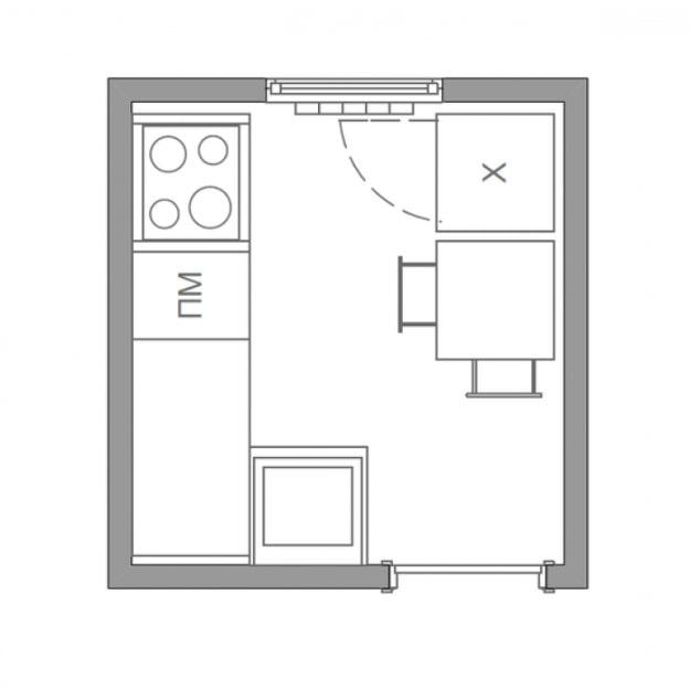 схема кухни 4 кв м
