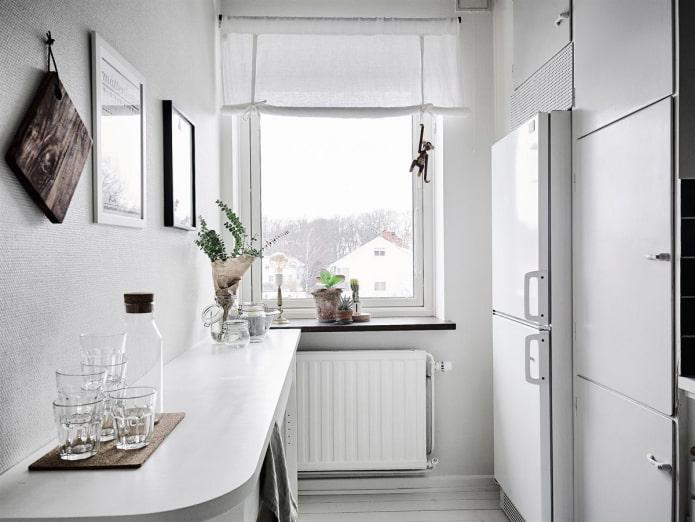 белая сканди кухня