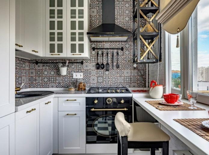 кафель до потолка на кухне