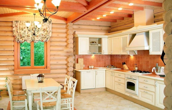 Особенности отделки кухни в деревянном доме