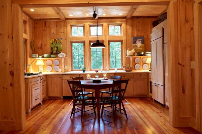 освещение на кухне в доме