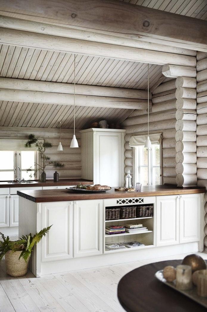 разделение кухни гостиной
