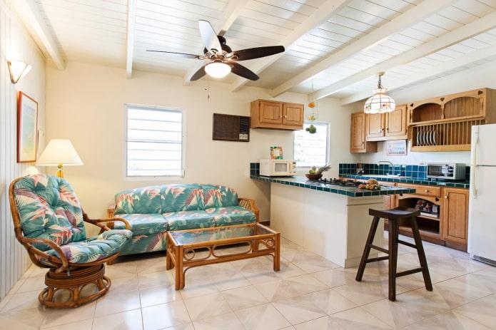 Уютная кухня с зоной отдыха