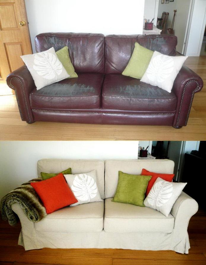 Перетянутый диван