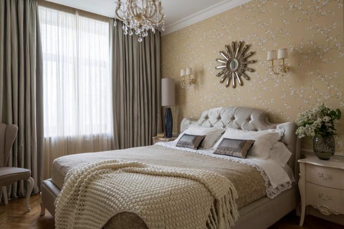 дизайн спальни в теплых оттенках