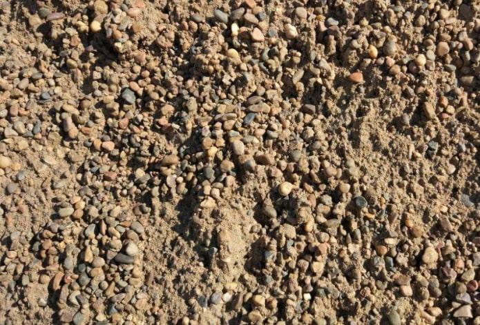 Смесь гравия и песка