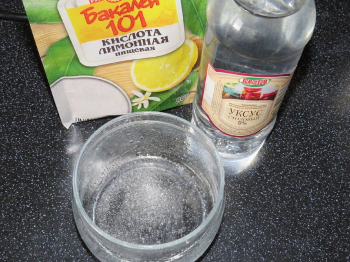 Уксус и лимонная кислота против ржавчины