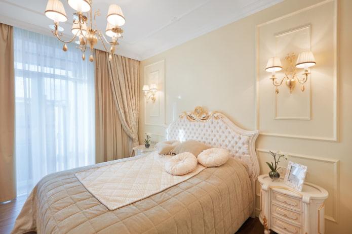 портьеры для спальни в классическом стиле