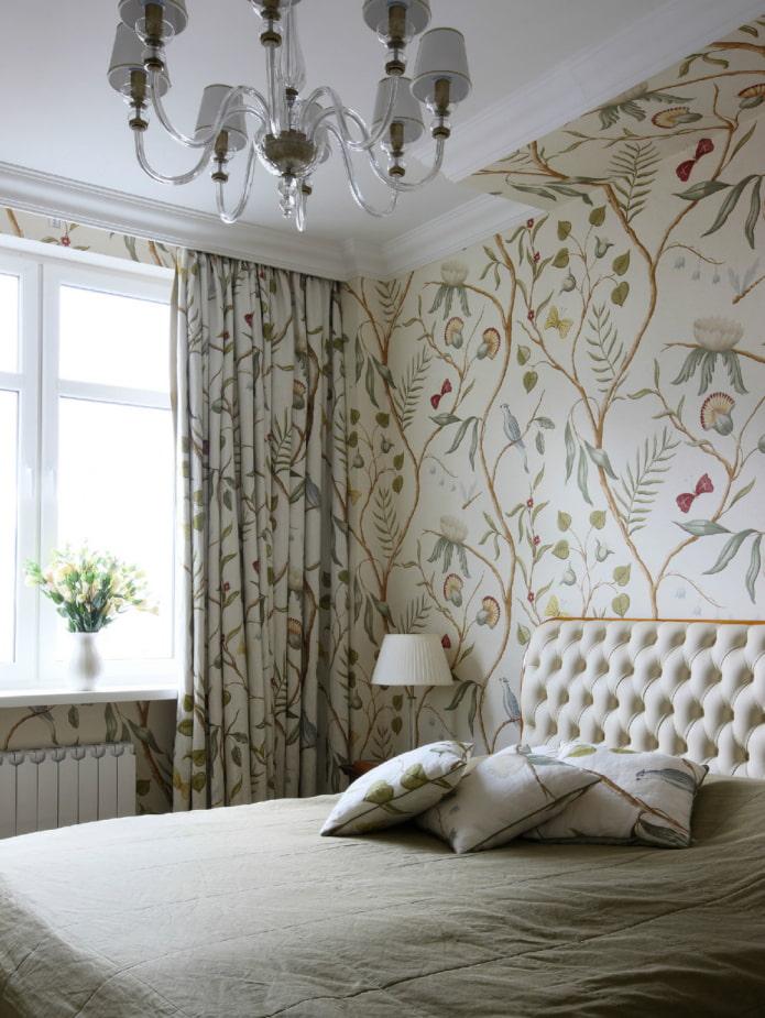 рисунок на шторах в цвет стен