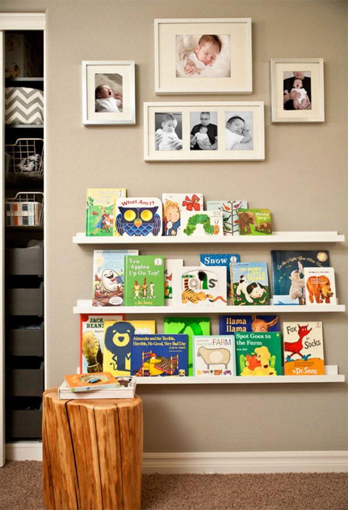 Открытые полочки для книг