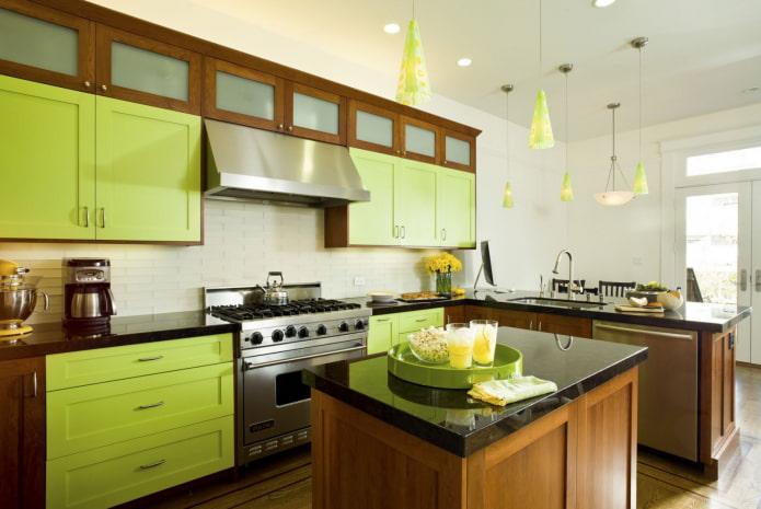 Зеленый цвет в интерьере: 50 фото, сочетания и модные оттенки