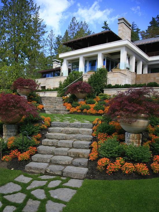 лестницы из камня к дому
