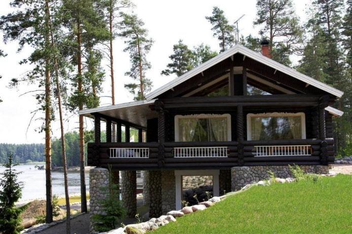 проект дома на склоне