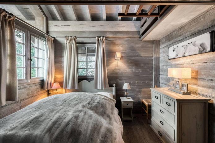 спальня в холодных тоназ