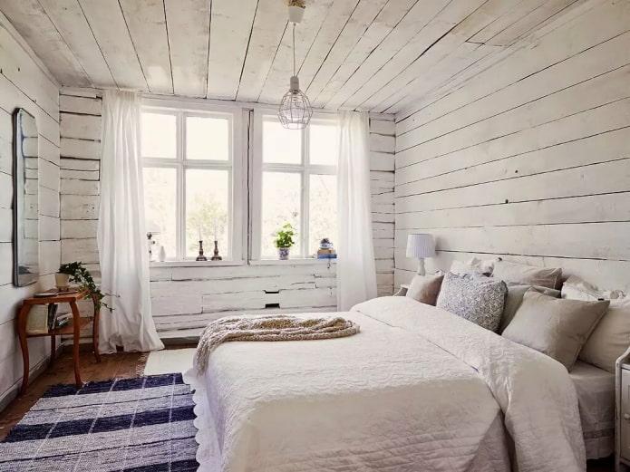 спальня в стиле сканди