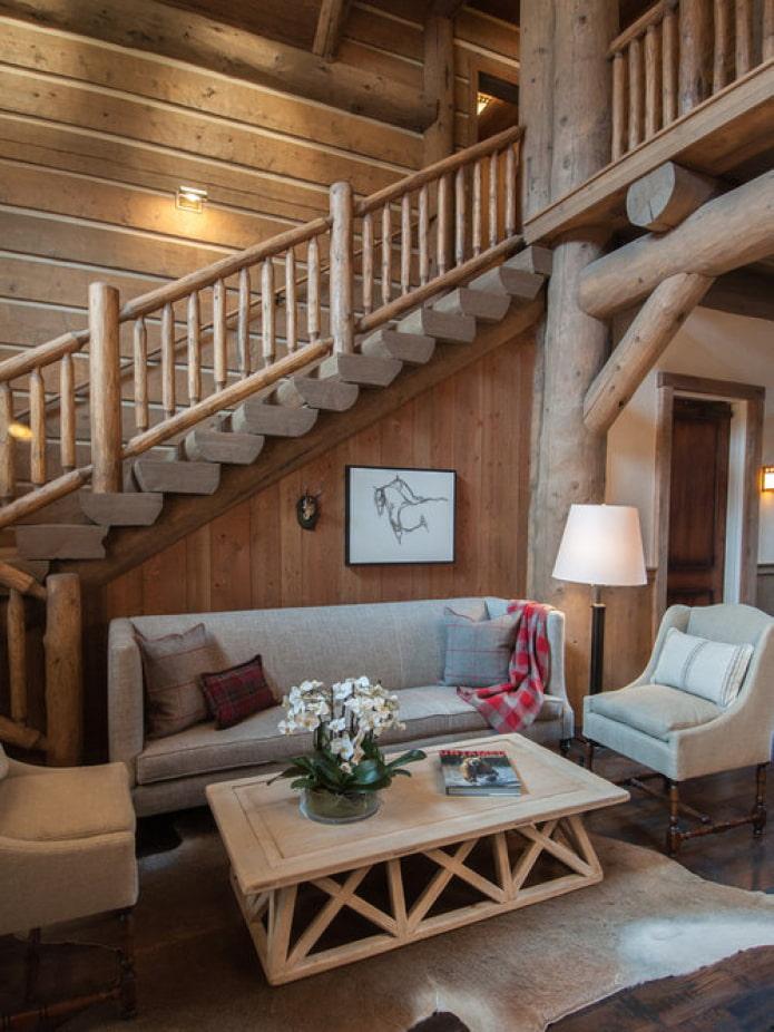 гостиная под лестницей