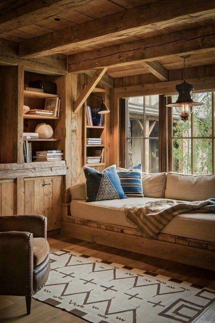 встроенная мебель на даче