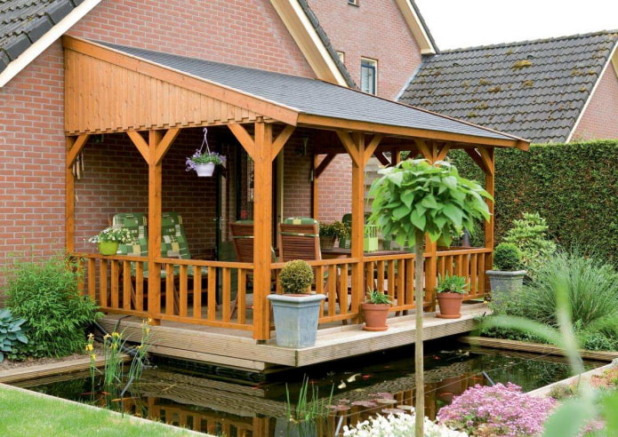 деревянная веранда к дому