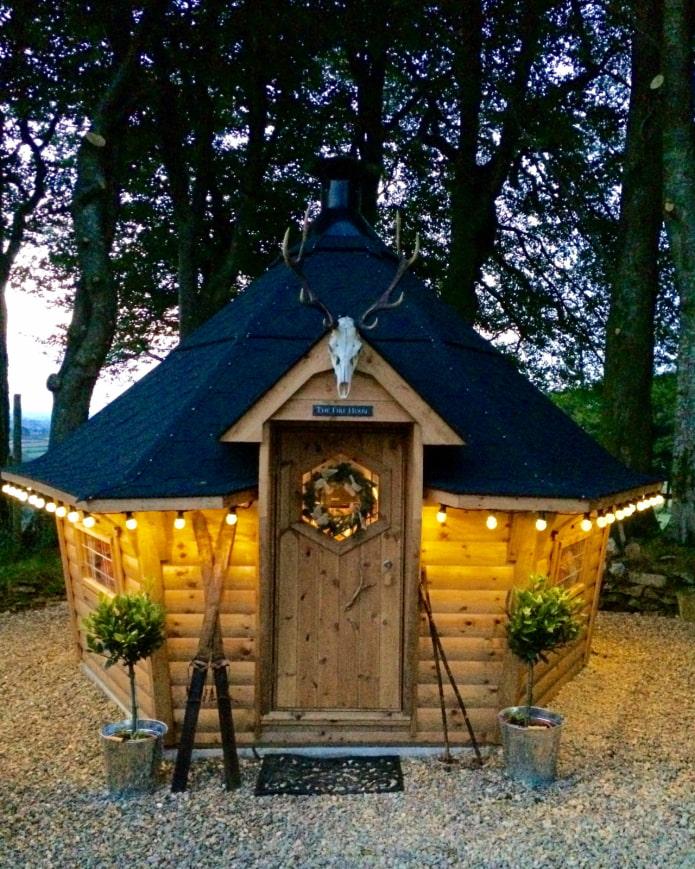 домик с грилем для дачи